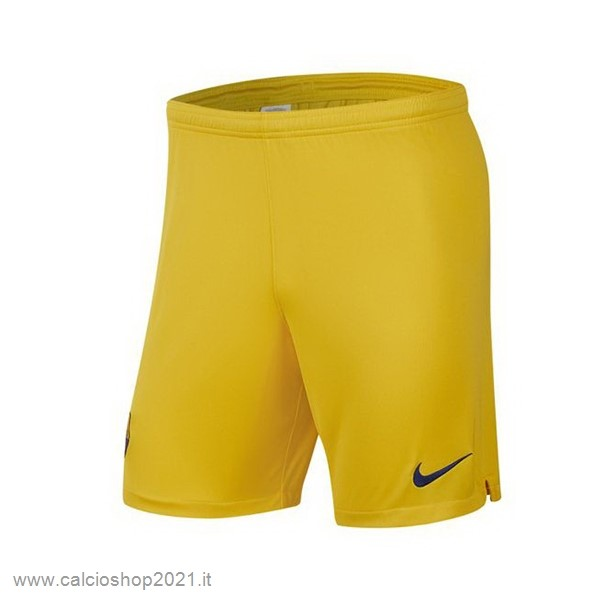Away Pantaloni Barcellona 2019 2020 Giallo Maglie Originali Calcio