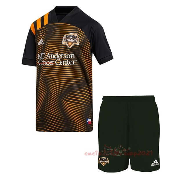 Away Set Completo Bambino Houston Dynamo 2020 2021 Arancione Maglie Originali Calcio