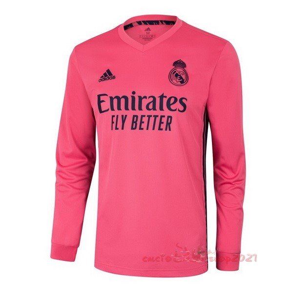 Away Manga Larga Real Madrid 2020 2021 Rosa Maglie Originali Calcio