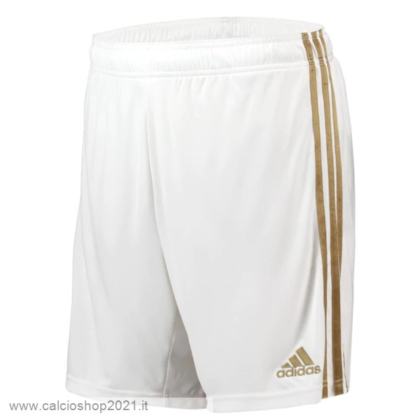 Home Pantaloni Real Madrid 2019 2020 Bianco Maglie Originali Calcio