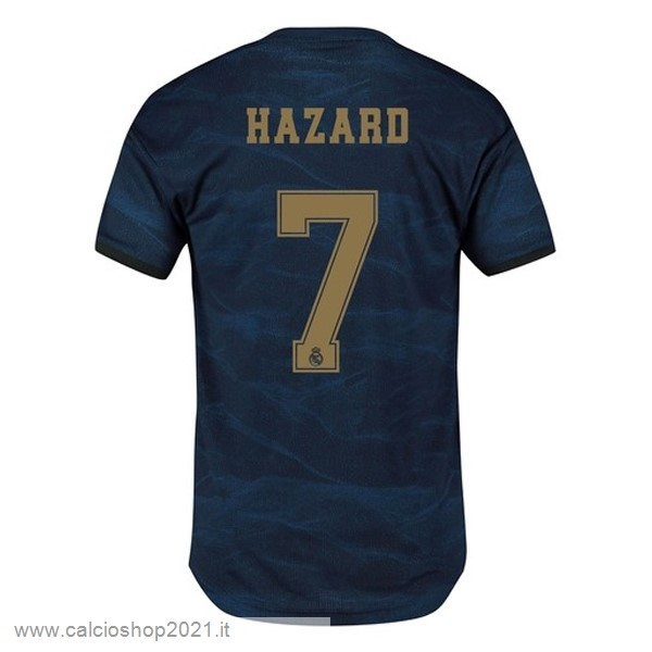 NO.7 Hazard Away Maglia Real Madrid 2019 2020 Blu Maglie Originali Calcio